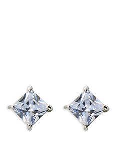 Lauren Ralph Lauren Silver-Tone Estate Clear Stone Stud Earrings