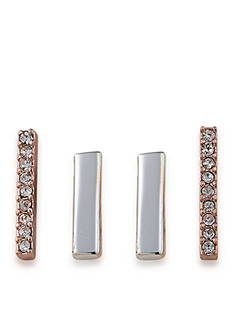 Lauren Ralph Lauren Rose Gold-Tone Rose Chic Bar Stud Earrings Set
