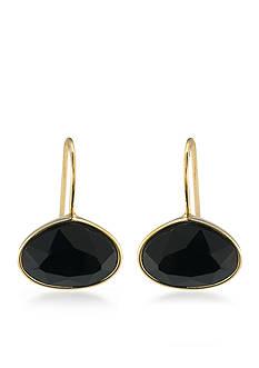 Lauren Ralph Lauren Lauren Treasure Trove Black Stone Drop Pierced Earrings
