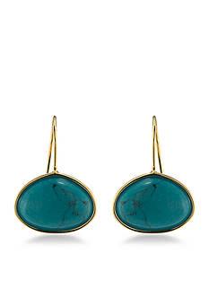 Lauren Ralph Lauren Gold-Tone Treasure Trove Turquoise Stone Drop Earrings