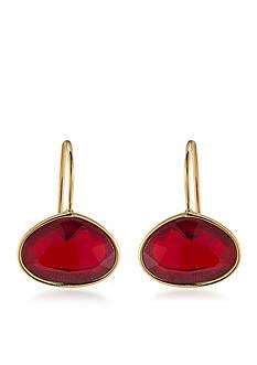 Lauren Ralph Lauren Treasure Trove Red Stone Drop Pierced Earrings