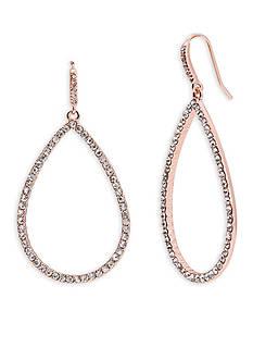 Lauren Ralph Lauren Rose Gold-Tone Palais Pave Teardrop Earrings