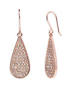 Lauren Ralph Lauren Rose Gold-Tone Palais Small Pave Teardrop Earrings