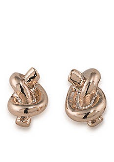Lauren Ralph Lauren Rose Gold-Tone Rose Chic Knot Stud Earrings