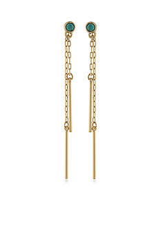 Lauren Ralph Lauren Gold-Tone Dream Weaver Linear Earrings