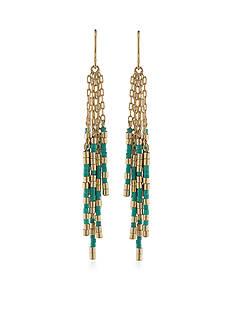 Lauren Ralph Lauren Gold-Tone Dream Weaver Cluster Drop Earrings