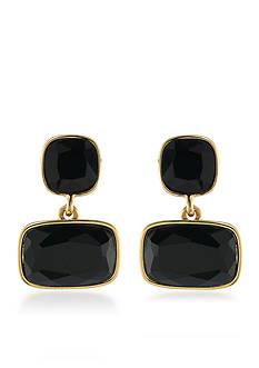 Lauren Ralph Lauren Treasure Trove Black Double Drop Pierced Earrings
