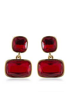 Lauren Ralph Lauren Treasure Trove Red Double Drop Pierced Earrings