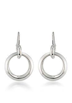 Lauren Ralph Lauren Silver-Tone Mix Master Ring Drop Earrings