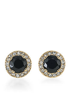 Lauren Ralph Lauren Treasure Trove Black Stud Pierced Earrings
