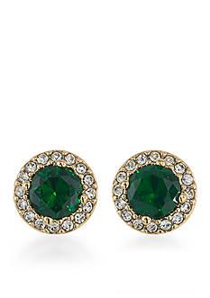 Lauren Ralph Lauren Treasure Trove Green Stud Pierced Earrings