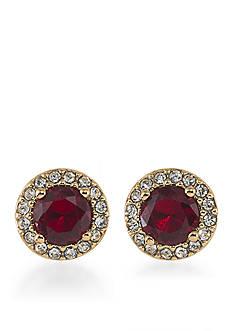 Lauren Ralph Lauren Treasure Trove Red Stud Pierced Earrings
