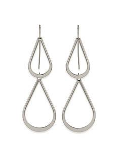 Lauren Ralph Lauren Silver-Tone Lauren All The Small Things Double Teardrop Pierced Earrings