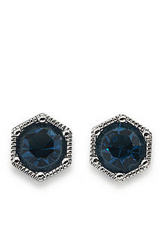 Lauren Ralph Lauren Hexagon Stud Earrings