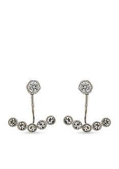 Lauren Ralph Lauren Silver-Tone Modern Chic Ear-Jacket Earrings