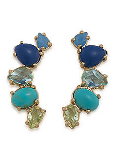 Lauren Ralph Lauren Gold-Tone Pop Style Ear Climber Pierced Earrings