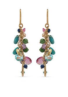 Lauren Ralph Lauren Gold-Tone Pop Style Cluster Drop Earrings