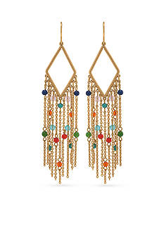 Lauren Ralph Lauren Feminine Glam Chic Beaded Drop Earrings