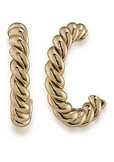 Lauren Ralph Lauren Gold-Tone Perfect Pieces Small Twisted Hoop Earrings