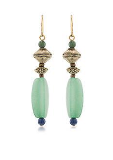 Lauren Ralph Lauren Gold-Tone Beaded Linear Earrings