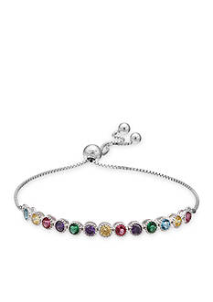 Belk Silverworks Colorful Cubic Zirconia Friendship Bracelet