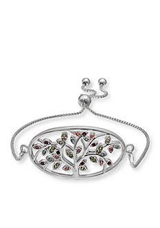 Belk Silverworks Silver-Tone Multi Pastel Family Tree Bracelet