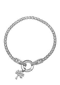 Belk Silverworks Fine Silver Plated Clear Swarovski Crystal Tennis Bracelet