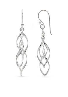 Belk Silverworks Simply Sterling Triple Twisted Drop Earrings