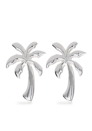 Belk Silverworks Palm Tree Stud Earrings