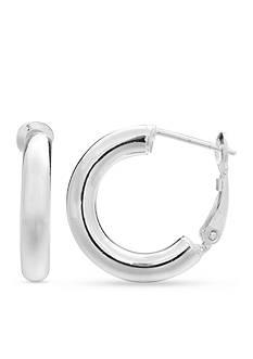 Belk Silverworks Simply Sterling Polished Tube Hoop Earrings