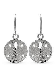 Belk Silverworks Sterling Silver Sand Dollar Drop Earrings