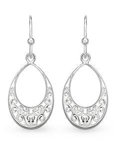 Belk Silverworks Sterling Silver Drop Filigree Earrings