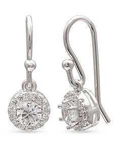 Belk Silverworks Simply Sterling Round Drop Earrings