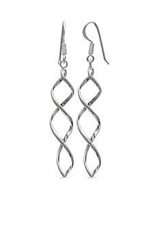 Belk Silverworks Simply Sterling Corkscrew Drop Earrings