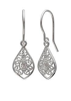 Belk Silverworks Simply Sterling Filigree Kite Drop Earrings
