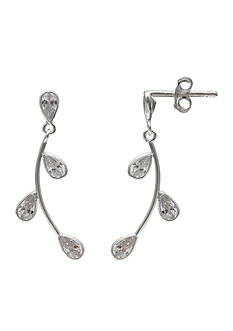 Belk Silverworks Simply Sterling Cubic Zirconia Vine Drop Earrings