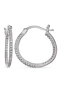 Belk Silverworks Sterling Silver Cubic Zirconia Hoop Earrings