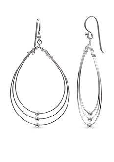 Belk Silverworks Silver Tone Teardrop Drop Earrings