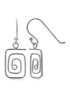 Belk Silverworks Simply Sterling Square Wire Wrap Drop Earrings