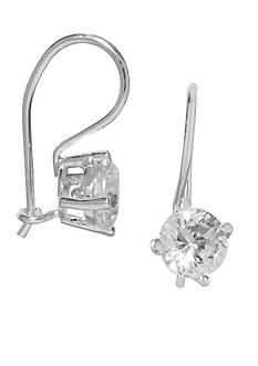Belk Silverworks Sterling Silver Round Cubic Zirconia Drop Earrings