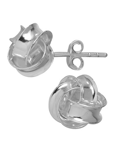 Belk Silverworks Polished Love Knot Stud Earrings