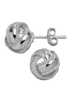 Belk Silverworks Braided Love Knot Earrings