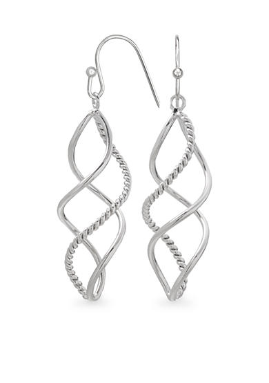 Belk Silverworks Fine Silver Plated Triple Twist Drop Earrings