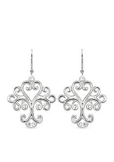 Belk Silverworks Fine Silver Plated Filigree Drop Earrings