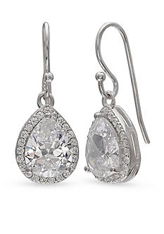Belk Silverworks Fine Silver Plated Pear Drop Earrings