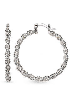 Belk Silverworks Silver-Tone Twisted Hoop Earrings