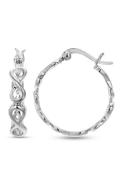 Belk Silverworks Silver-Tone Infinity Hoop Earrings