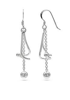 Belk Silverworks Fine Silver Plated Twisted Drop Earrings