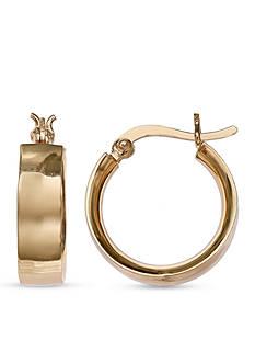 Belk Silverworks Gold-Tone Hoop Earrings