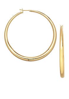 Belk Silverworks 24kt Over Fine Silver-Plated 35-mm. Round Graduated Hoop Earrings